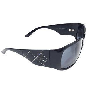 Chanel 5080 Swarovski quilted black sunglasses